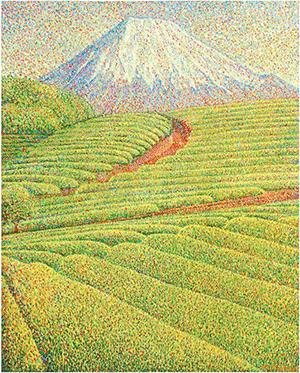 『茶畑と富士』